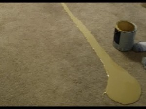 #7 SCOTCHGUARD FAIL – Not a great way to test the Scotchguard ability of your carpet.