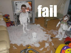 #8 CUTENESS FAIL – While ultimately cute and certainly a Kodak moment, still an epic paint fail.